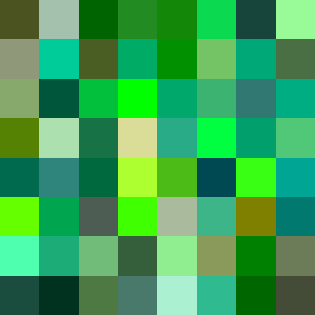 Shades Of Green Hex Rgb Cmyk Color Codes